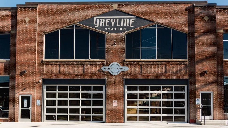 The outside of Greyline Station